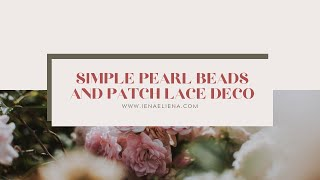 Download CIK IENA MENJAHIT MANIK (SIMPLE PEARL BEADS AND PATCH LACE DECO) [HD] Video