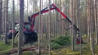 Download Nisula 425C with Valtra N134 Active (harvester head via tractors own hydraulic system)only Video
