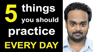 Download 5 Things to Practice Every Day to Improve Your English - Better Communication Skills - Become Fluent Video