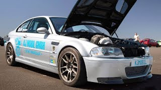 Download 950HP BMW E46 - Shooting for 300kph? (man shifting!) Video