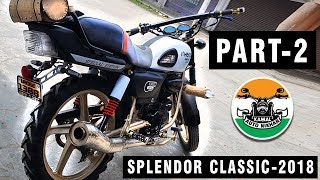 Download Hero Splendor Modified Into Classic Model | PART -2 | by kamal Auto Nikhar Video