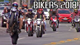Download BIKERS 2018! Superbikes Wheelies, Burnouts, Stoppies and Loud Exhaust Sounds! Video