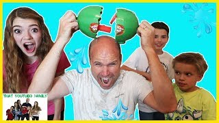 Download Don't Get Soaked - Watermelon Smash - Family Game Night! / That YouTub3 Family Video