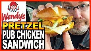 Download Wendy's Pretzel Pub Chicken Sandwich Review and Drive Thru Test Video