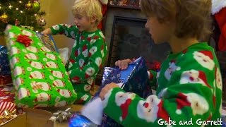 Download Christmas Morning 2014 - Gabe and Garrett Opening Presents! Video