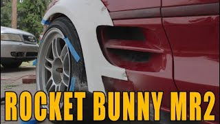 Download ROCKET BUNNY MR2 FITTING THE REAR FENDERS Video