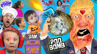 Download OUR HAUNTED HOUSE w/ ZOMBIE DONALD TRUMP @ 3am! My Soup is BOMB! FGTEEV Halloween Gameplay Skit Video