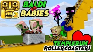 Download MONSTER SCHOOL : FUNNY ROLLER COASTER TEMPLERUN WITH BABY MONSTER - Minecraft Animation Video
