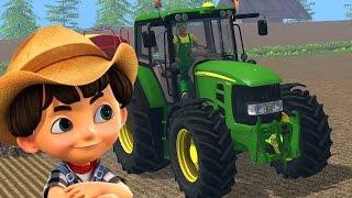 Download John Deere tractor - Tractor video for kids - Cartoon Video