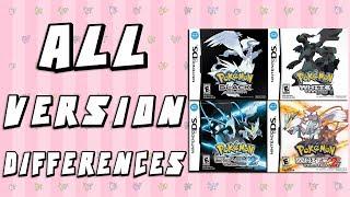Download All Version Differences in Pokemon Black, White, Black 2 & White 2 Video