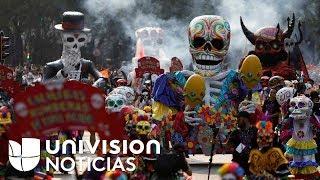 Download Sentido homenaje a víctimas del terremoto durante desfile del Día de los Muertos en México Video