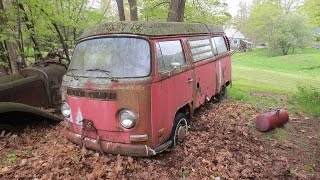 Download 31 years in a field, vw bus, will it run? Video