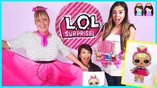Download LOL Surprise Dolls In Real Life at Toy Hair Salon! Sis Swing makeover with Princess ToysReview Video