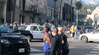 Download Climbing On Traffic Light In Hollywood Prank (gets Arrested) Video