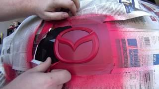 Download Mazda 3 Logo Red and Black PlastiDip Video