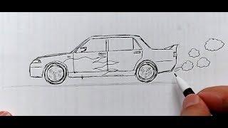 çok Kolay Lamborghini Araba çizimi Basit Spor Araba çizimi How