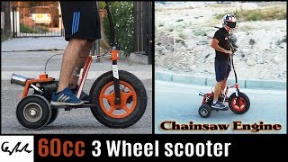 Download Chainsaw engine 3 wheel scooter Video
