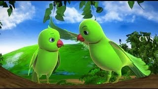 Download Chitti Chilakamma - Parrots 3D Animation Telugu Rhymes For children with lyrics Video
