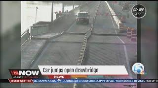 Download Car jumps open drawbridge Video