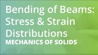 Download Bending of Beams: Stress & Strain Distributions | Mechanics of Solids Video