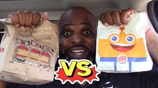Download BURGER KING KIDS MEAL vs MCDONALDS HAPPY MEAL Video