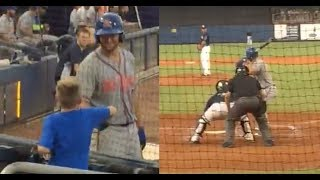 Download Tim Tebow Leaves On-Deck Circle To Greet Autistic Fan, Steps To Plate & Hits 3-Run HR Video