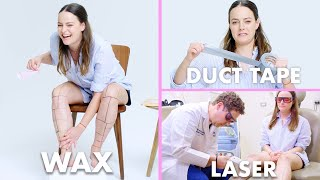 Download Every Method of Leg Hair Removal (21 Methods) | Allure Video