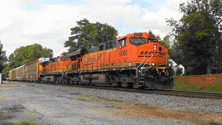 Download NS 291 with BNSF power in Stockbridge Video