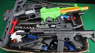 Download Big Box Full of Realistic and Colorful Military Toy Guns !! Video