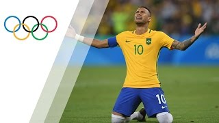 Download Neymar penalty seals gold for hosts Video