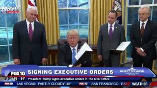 Download FNN: President Trump Signs Executive Orders In The Oval Office Video