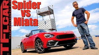 Download What's Faster: Fiat 124 Spider Abarth or Mazda Miata MX-5? Video