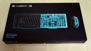 Download ASMR Logitech G100 gaming combo keyboard & mouse unboxing Video