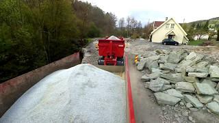 Download Karmøy til Aksdal. Tippbil med kabelsand Video