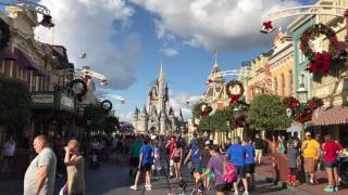 Download Holiday Decor Completed & Christmas Tree Installed on Main Street at the Magic Kingdom Video