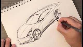 Download How to Sketch a Car in Perspective Using Just a Pen (Start with an egg) Video