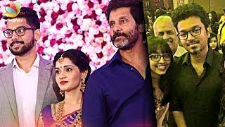 Download Vikram's daughter, Karunanidhi's grandson's Reception | Akshita, Manu Ranjith Wedding Video