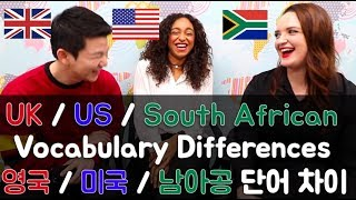Download UK / US / South African English Vocabulary Differences Video