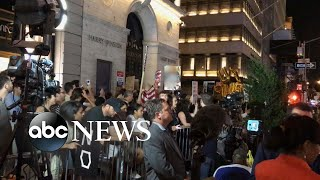 Download Trump greeted by protesters on his return to Trump Tower Video