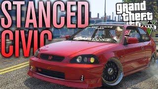 Download GTA 5 MODS | CRAZY STANCED HONDA CIVIC! Video