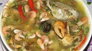 Download Khmer Cooking Style At Home - (សម្លម្ជូរផ្លែ​ល្ហុង)Papaya Soup With Grab,Fish,Shrimp... Video