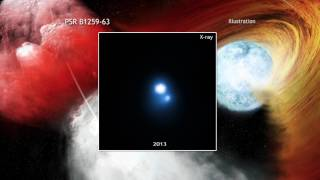 Download Angry Pulsar Blows a Hole in Nearby Stellar Disk | Video Video