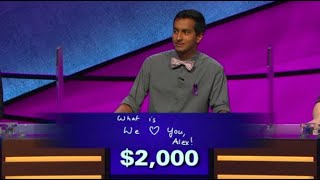 Download 'We love you, Alex:' Alex Trebek gets emotional over 'Jeopardy!' contestant's answer Video