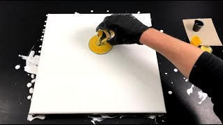 Download Acrylic swirl pouring - white negative space -fast and easy Video