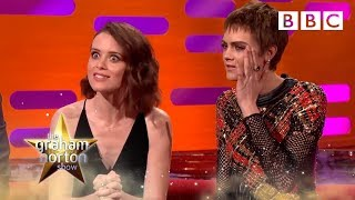 Download Claire Foy's unusual encounter with a fan in a chip shop -The Graham Norton Show: 2017 - BBC One Video
