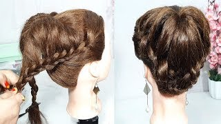 Download new braided bun hairstyle using clutcher | trending hairstyle | party Updo Hairstyle | hairstyles Video
