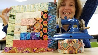 Download Log Cabin Quilt from a Jelly Roll! Video