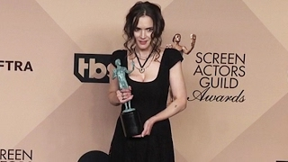 Download Winona Ryder Doesn't Seem Very Happy With Being Screamed At By Photogs At The 2017 SAG Awards Video