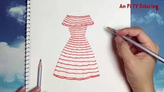Download Draw a dress 7 for girl - Vẽ váy đơn giản - An Pi TV Coloring Video