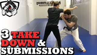 Download Grappling vs Striking: 3 BJJ Takedowns & Submissions Video